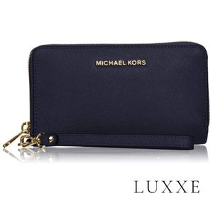 Michael Kors Zipper Wallet - Color: Admiral